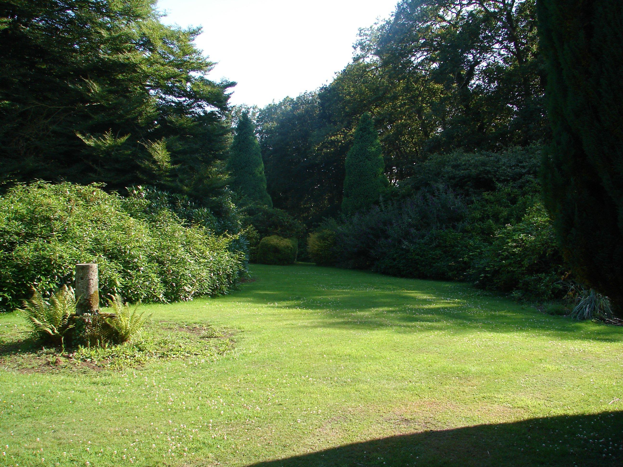 Stage en angleterre 2009 une autre vue du jardin sous le for Autre jardin quebec
